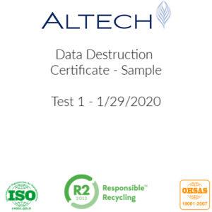 Altech Companies for Data Destruction